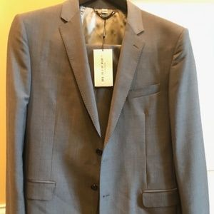 Men's Classic Fit Wool Mohair Burberry Suit
